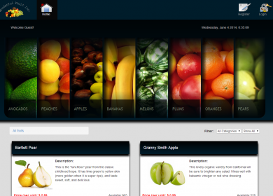 Lab360 - Wonderful Fruit Website